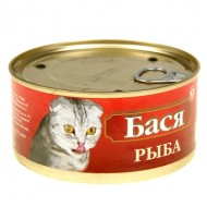 """Бася 325 гр """"Рыба"""" банка ключ 1/30"""