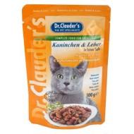 Доктор Клаудер д/кошек с Кроликом и печенью пауч 100гр