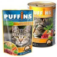 Puffins picnic 85гр желе Мясное ассорти д/кошек 1/26