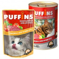 Puffins picnic 85гр соус Говядина д/кошек 1/26