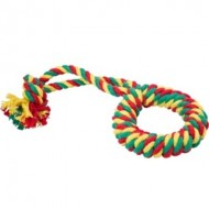 Кольцо канатное большое (желтый-зеленый-красный) Doglike
