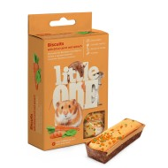 Little One Бисквиты для мелких грызунов с морковью и шпинатом 5х7гр