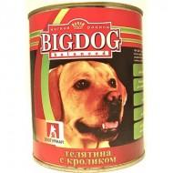BIG DOG Телятина с кроликом 850 гр ж/б 1/9