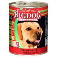 BIG DOG Телятина с сердцем 850 гр ж/б