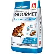 Зоогурман Gourmet сухой корм д/кошек Океаническая рыба 350гр