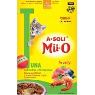 A-Soli Mii-o д/котят Тунец и сардина в креветочном соусе 80гр пауч