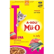 A-Soli Mii-o д/котят Тунец с анчоусом в желе 80гр пауч