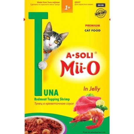 A-Soli Mii-o д/кошек Красное мясо тунца в креветочном соусе 80гр пауч