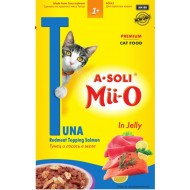 A-Soli Mii-o д/кошек Красное мясо тунца и лосось в желе 80гр пауч