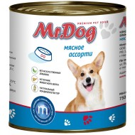 Мистер Дог конс. д/собак Мясное ассорти 750гр