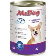 Мистер Дог конс. д/собак с Говядиной и рисом 410гр