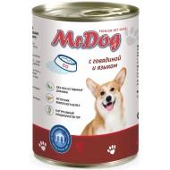 Мистер Дог конс. д/собак с Говядиной и языком 410гр