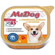 Мистер Дог конс. д/собак с Говядиной, рубцом и печенью 300гр