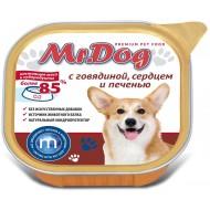 Мистер Дог конс. д/собак с Говядиной, сердцем и печенью 300гр