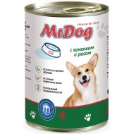 Мистер Дог конс. д/собак с Ягненком и рисом 410гр