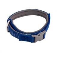 """Ошейник нейлон """"Премиум"""" светоотражающий с неопреновой подкладкой 2,5*42/64 см синий"""