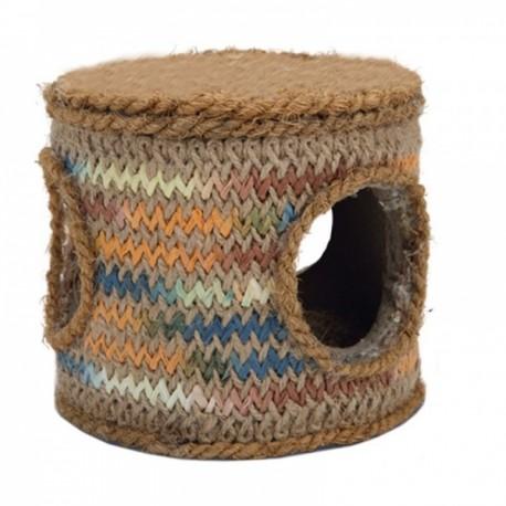Beeztees игрушка д/грызунов Бочка из кокосовой веревки 12*12*10,5см 812000