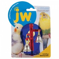 J.W. Игрушка д/птиц Крутяшиеся колокольчики, пластик Sprinning DellsToy for birds 04332