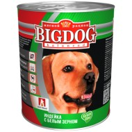 BIG DOG Индейка с белым зерном 850 гр ж/б
