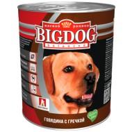 BIG DOG Говядина с гречкой 850 гр ж/б