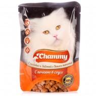 Chammy д/кошек с печенью в соусе 85гр пауч