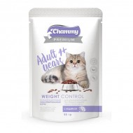 Chammy Premium д/кошек склонных к набору веса с индейкой 85гр пауч