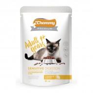 Chammy Premium д/кошек с чуствительным пищеварением с индейкой и рисом 85гр пауч