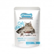Chammy Premium д/кошек старше 8 лет с кроликом и индейкой 85гр пауч