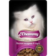Chammy д/кошек мясное ассорти в соусе 85гр пауч