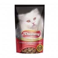 Chammy д/кошек с лососем и форелью в соусе 85гр пауч