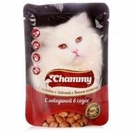 Chammy д/кошек с курицей в соусе 85гр пауч