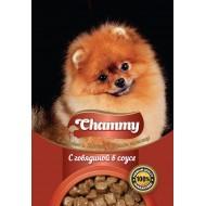 Chammy д/собак с говядиной в соусе 85гр пауч