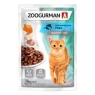 Зоогурман  консервы для кошек Океаническая рыба в соусе пауч 85гр 1/30