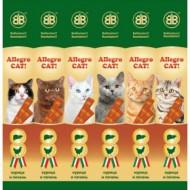 В&В Аллегро Кэт колбаски для кошек курица/печень (1шт)