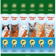 В&В Аллегро Кэт колбаски для кошек лосось/форель (1шт)