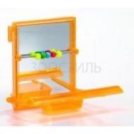 I.P.T.S. 010220 Зеркало с жердочкой и счетами, пластик 7*9см