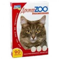 Доктор ZOO для кошек с биотином и таурином 90 т 6шт/уп