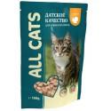 All Cats д/к с говядиной в соусе пауч 85гр 1/25