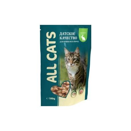 All Cats д/к с кроликом в соусе пауч 85гр 1/25