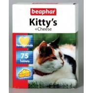 Беафар д/кошек Kitty`s+Cheese сердечки с сыром 75 таб