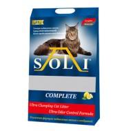 A-Soli Complete 8кг (11,2л) комкующийся дезодорированный для нескольких кошек 1/2