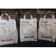 """A-Soli """"ECO+"""" бумажный впитывающий наполнитель д/котят и грызунов  6л. (2,7кг)"""