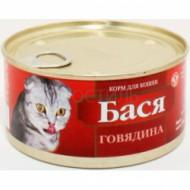 """Бася 325 гр """"для котят паштет в желе"""" банка ключ"""