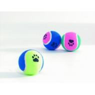 """Beeztees игрушка д/собак """"Мячик теннисный с отпечатками лап"""" разноцветный 6,5см 625595"""