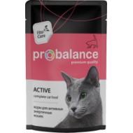 ProBalance ImmunoProtection д/активных кошек пауч 85гр 1/25