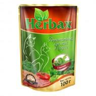 Herbax 100гр д/кошек кролик в соусе с травами пауч 1*24