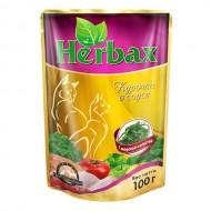 Herbax 100гр д/кошек курица в соусе с морской капустой пауч 1*24