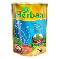 Herbax 100гр д/кошек рыбное ассорти в соусе с мятой пауч 1*24
