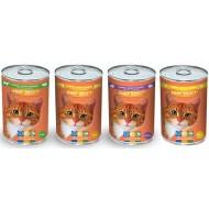 Прохвост консервы 415г д/кошек Мясное ассорти