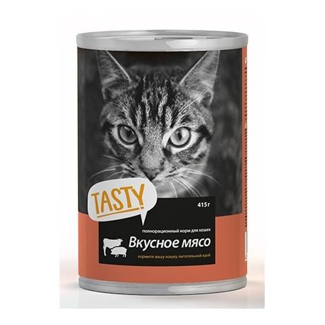 Тasty д/кошек 415г с мясное ассорти в соусе банка